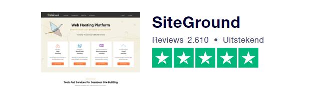 trustpilot score webhostinga