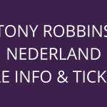 Tony Robbins Nederland tickets