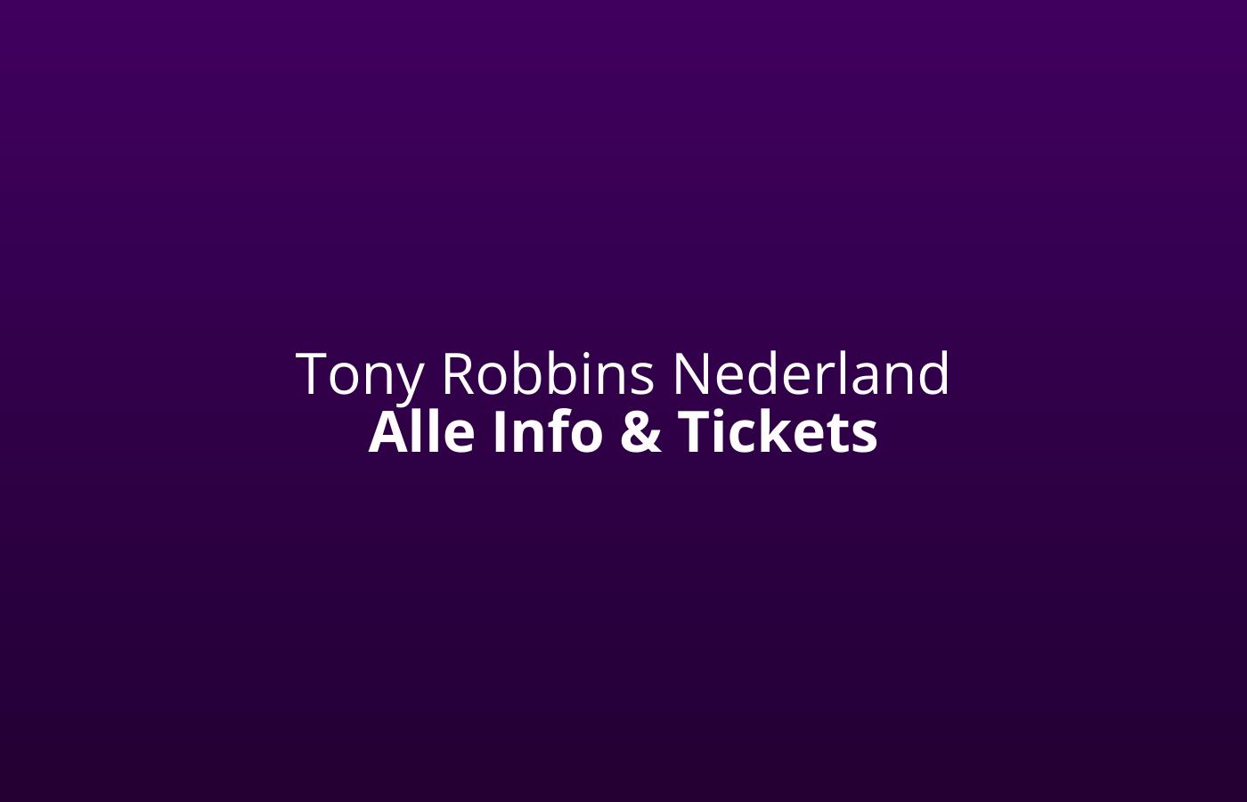 tony robbins nederland