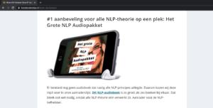 nlp audiopakket review 3